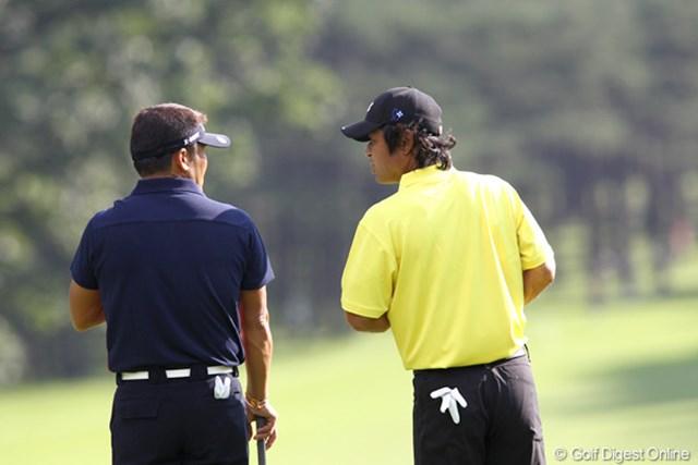 2011年 ANAオープンゴルフトーナメント 2日目 伊澤利光&丸山茂樹 ヒソヒソ話?