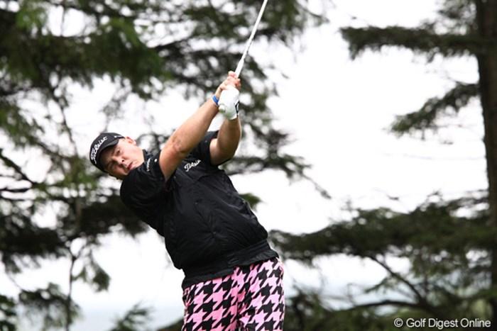 昨年から日本ツアーに参戦しているカート・バーンズ。ツアー初優勝に向け、首位タイで最終日に臨む 2011年 ANAオープンゴルフトーナメント 3日目 カート・バーンズ