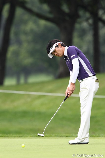 2011年 ANAオープンゴルフトーナメント 3日目 近藤共弘 ドライバーは長尺に挑戦中。この日はパットが好調でスコアを伸ばした近藤共弘
