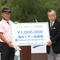 2年連続で「ゴルフ北海道スイング」1位に輝いた平塚哲二。北海道といえばもはやこの顔? 2011年 ANAオープンゴルフトーナメント 最終日 平塚哲二