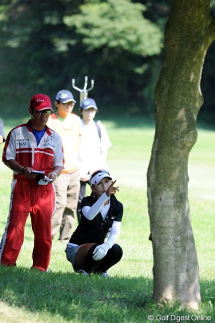 最終日の前半にバーディを量産した金田久美子は後半3つのボギーで優勝を逃した