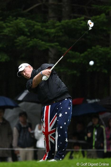 オーストラリアの国旗をあしらったウェア、ジョン・デーリーにあこがれてるそうですよ 2011年 ANAオープンゴルフトーナメント 最終日 カート・バーンズ