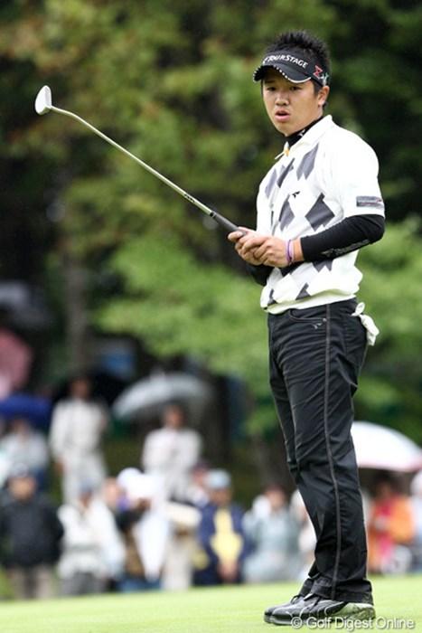 最終日最終組でも地に足をつけた戦いができたという伊藤誠道。今週得た経験は大きいはずだ。 2011年 ANAオープンゴルフトーナメント 最終日 伊藤誠道