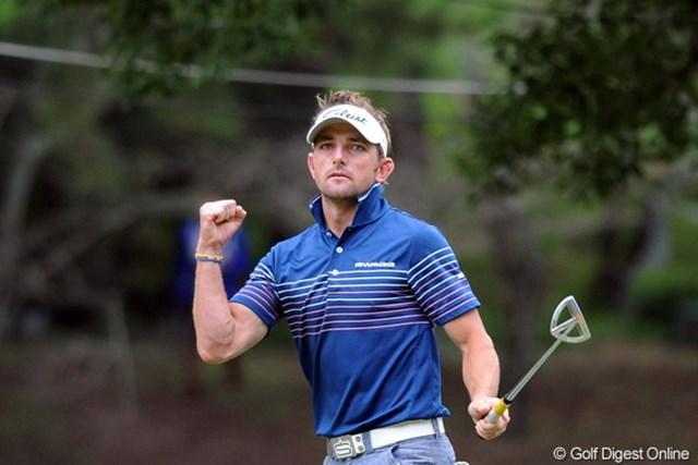 2011年 アジアパシフィックオープンゴルフチャンピオンシップパナソニックオープン 初日 ジェイブ・クルーガー 後半インで「30」の猛攻。初の日本ツアーで会心のスタートを切ったジェイブ・クルーガー