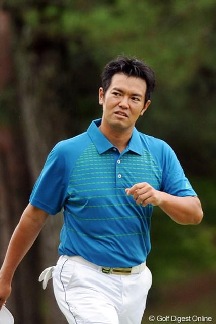 2011年 アジアパシフィックオープンゴルフチャンピオンシップパナソニックオープン 初日 武藤俊憲 最終ホールで70センチのパットを、フックorスライスで読み違えてまさかのボギー。あまりにも惜しい1打で6位タイ。