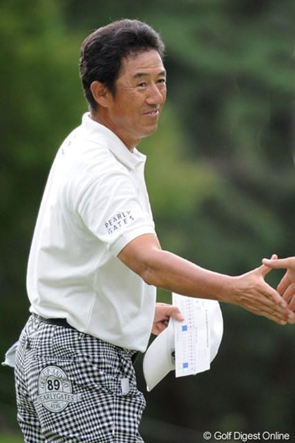 2011年 アジアパシフィックオープンゴルフチャンピオンシップパナソニックオープン 初日 芹沢信雄 終盤まで3アンダーで来たのに、上がり2ホールがダボ、ボギーで、レギュラーツアー久方ぶりのアンダーフィニッシュを逃してしまいました。33位T