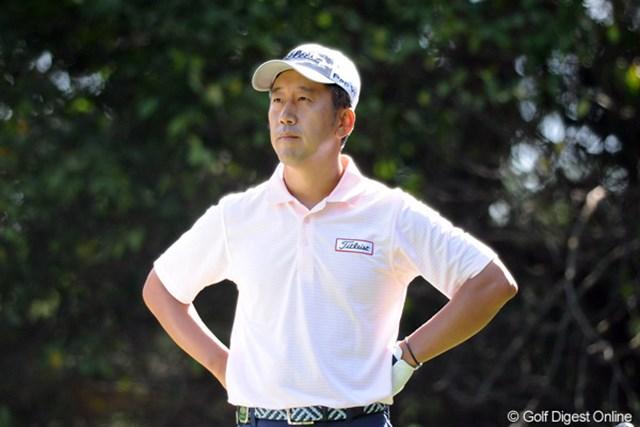 2011年 アジアパシフィックオープンゴルフチャンピオンシップパナソニックオープン 2日目 S.K.ホ エスケー仁王立ち!アジアの猛者達の前に66のベストスコアで敢然と立ちはだかったのは、韓流男子プロのボス:エスケーであった。単独首位