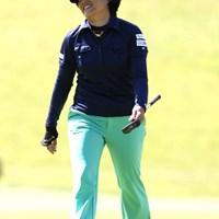 初優勝を目指しているとは思えない粘り強いプレー。最終日最終組に入った恒川智会 2011年 ミヤギテレビ杯ダンロップ女子オープンゴルフトーナメント 2日目 恒川智会