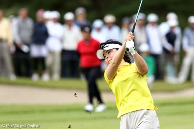 2011年 ミヤギテレビ杯ダンロップ女子オープンゴルフトーナメント 最終日 不動裕理 中盤の3ボギーが響いて、優勝には1打及ばなかった不動裕理