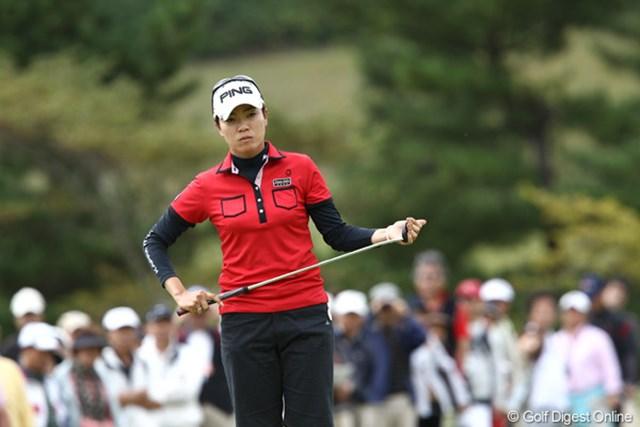 2011年 ミヤギテレビ杯ダンロップ女子オープンゴルフトーナメント 最終日 大山志保 2週連続での優勝争い。復活に向けての手応えは増している