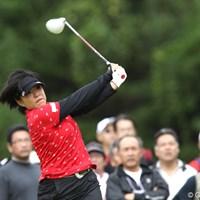 2日続けての最終組で、最後まで健闘を見せた恒川智会。この経験を次の機会に生かしたい 2011年 ミヤギテレビ杯ダンロップ女子オープンゴルフトーナメント 最終日 恒川智会