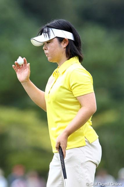 2011年 ミヤギテレビ杯ダンロップ女子オープンゴルフトーナメント 最終日 不動裕理 逆転され表情も冴えない