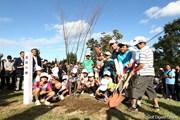 2011年 ミヤギテレビ杯ダンロップ女子オープンゴルフトーナメント 最終日 復興の植樹