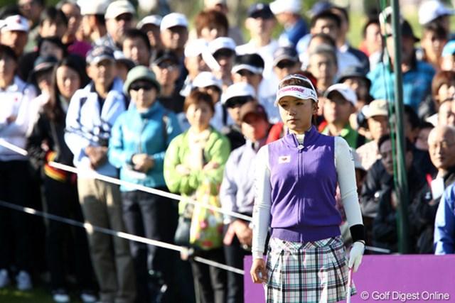 2011年 ミヤギテレビ杯ダンロップ女子オープンゴルフトーナメント 最終日 有村智恵 東北高校出身、東北には思い出がいっぱい