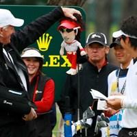 石川遼(右)はグレッグ・ノーマン(左)のお墨付き?※写真は2009年「ザ・プレジデンツカップ」 2011年 佐渡充高が簡単解説!初めてのPGAツアー【第十四回】