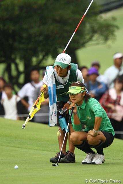 2011年 日本女子オープンゴルフ選手権競技 2日目 藤田幸希 出入りの激しいゴルフながら、何とか前半は我慢できていたのですが・・・。5オーバー8位タイ。