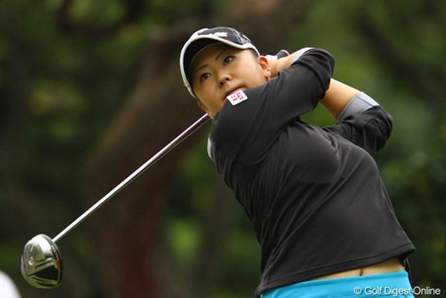 2011年 日本女子オープンゴルフ選手権競技 2日目 佐伯三貴 昨日82、今日72。大波賞で14オーバー57位タイのギリギリで予選通過です。