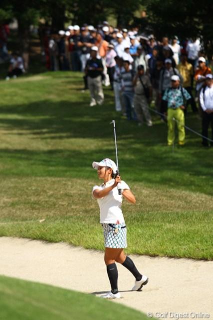 2011年 日本女子オープンゴルフ選手権競技 3日目 宮里藍 今日もバンカーに捕まりまくりでした。