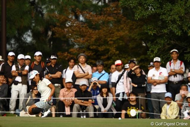 2011年 日本女子オープンゴルフ選手権競技 3日目 宮里藍 16番バーディパットは惜しくも入らず・・・。