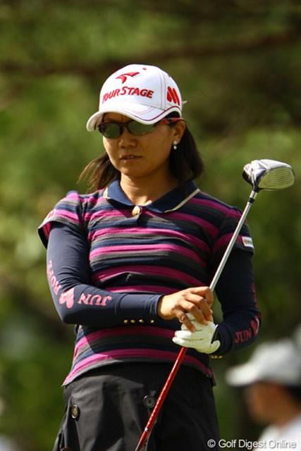 2011年 日本女子オープンゴルフ選手権競技 3日目 上原彩子 本命かと思っていたのですが・・・まさかの逆噴射。17位タイに後退です。