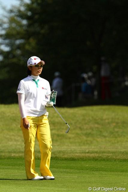 2011年 日本女子オープンゴルフ選手権競技 3日目 比嘉真美子 ローアマ争いも分からなくなって来ました。84を叩き40位タイに後退しましたが、まだアマチュアでトップです。