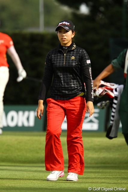 2011年 日本女子オープンゴルフ選手権競技 3日目 笠りつ子 今日1オーバーはベストスコアです。今日は一度もドライバーを使わず、3Wでティショットしたそうです。一気に2位タイへ急浮上。我慢比べは強そうな気がするのですが・・・。