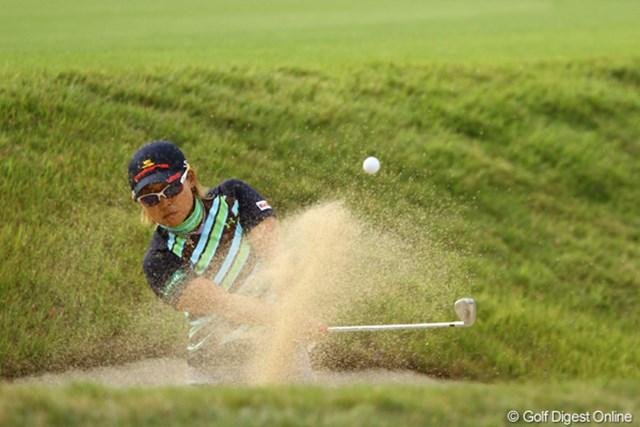 2011年 日本女子オープンゴルフ選手権競技 3日目 馬場ゆかり もうそろそろ勝利の女神が微笑んでくれてもイイのでは?それもメジャーで、3年ぶりの優勝を決めちゃって下さい!2位と2打差の単独首位で最終日へ。