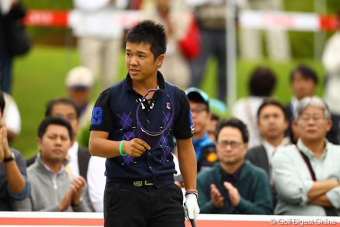 地元の大声援を受けてスタート。しかし96位タイと声援に応えられなかった 2011年 キヤノンオープン 初日 伊藤誠道