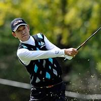 この日の最少スコアとなる「67」をマークし、首位タイに浮上したキム・ジョンドク 2011年 皇潤カップ日本プロゴルフシニア選手権大会 2日目 キム・ジョンドク