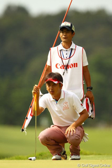 静か~なゴルフで1つスコアを伸ばしました。初優勝のチャンスありです