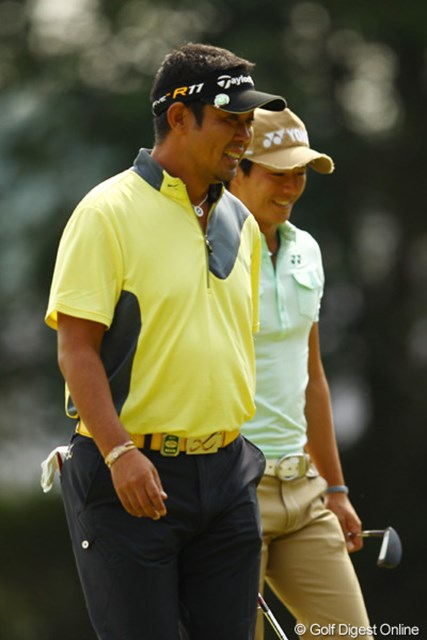 2011年 キヤノンオープン 3日目 小山内護と石川遼 「今日は最終組だし、ギャラリーもいっぱい来てるし、遼とのラウンドも楽しいよ。」