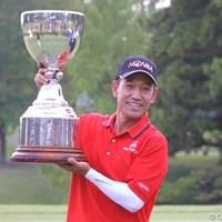 今季2勝目を挙げたキム・ジョンドク。目標はチャンピオンズツアーと更なる舞台に挑戦する 2011年 皇潤カップ日本プロゴルフシニア選手権大会 最終日 キム・ジョンドク