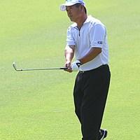 """最終日、3位タイに後退も最後まで""""攻める""""ゴルフを貫いた 2011年 皇潤カップ日本プロゴルフシニア選手権大会 最終日 三好隆"""