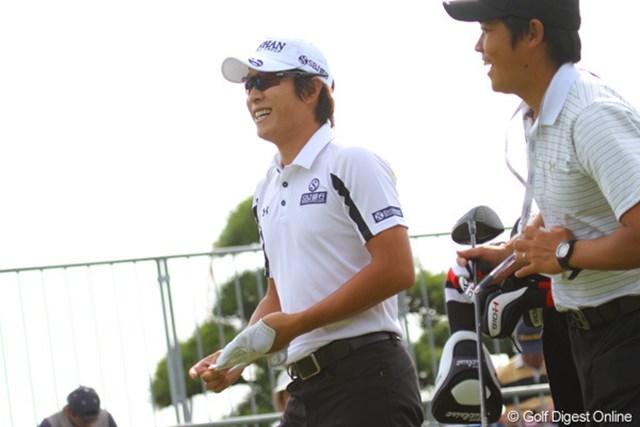 2011年 日本オープンゴルフ選手権競技 事前情報 キム・キョンテ 調子は思わしくないが…ラウンド中は笑顔も見せたキム・キョンテ