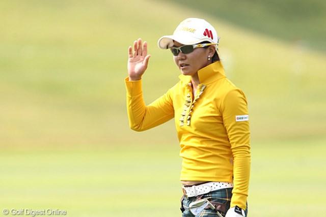 2011年 富士通レディース 初日 上原彩子 スタートから怒涛のバーディラッシュで首位タイにつけた上原彩子