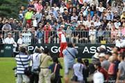 2011年 日本オープンゴルフ選手権競技 最終日 1H Tee スタート風景
