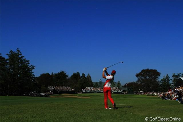 2011年 日本オープンゴルフ選手権競技 最終日 石川遼 18H  2nd Shot 本当に今日は晴天で最高な一日でした。