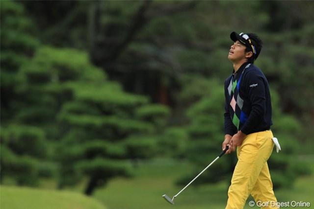 2011年 日本オープンゴルフ選手権競技 最終日 松山英樹 3H Green 今週このシーンしか撮れませんでした。次こそはガッツポーズを!