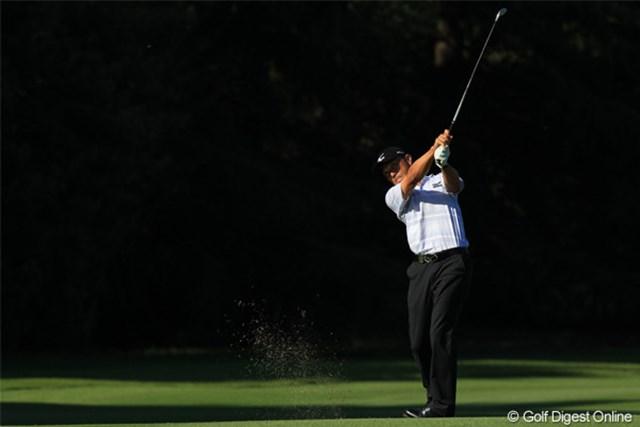 2011年 日本オープンゴルフ選手権競技 最終日 佐藤信人 11H 2nd shot この時まだ首位でした。