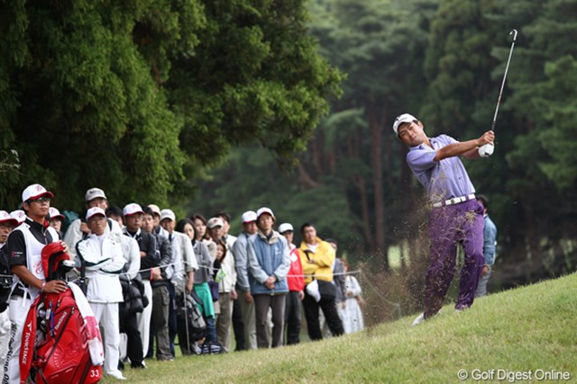 2011年 ブリヂストンオープンゴルフトーナメント 初日  池田勇太 偉業に挑む池田勇太は出遅れた。2日目は予選通過圏外からスタートする