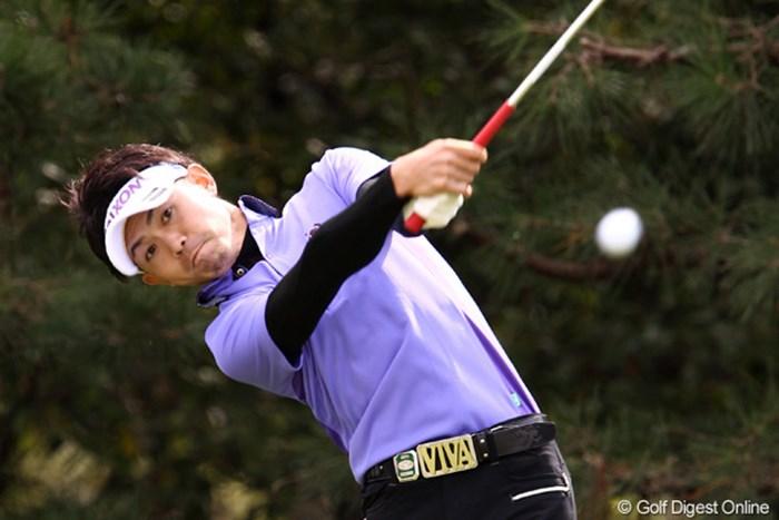 2位タイで初日を終えた諸藤将次。決勝ラウンドで優勝争いに絡みたい 2011年 ブリヂストンオープンゴルフトーナメント 初日  諸藤将次