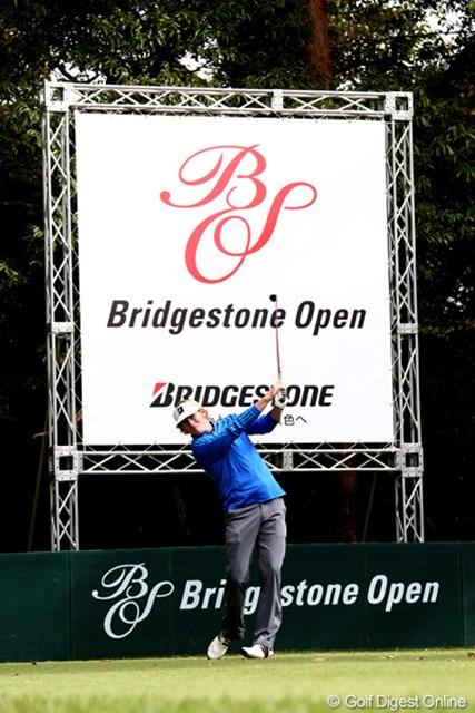 2011年 ブリヂストンオープンゴルフトーナメント 初日  ブラント・スネデカー  まさにBSのCM