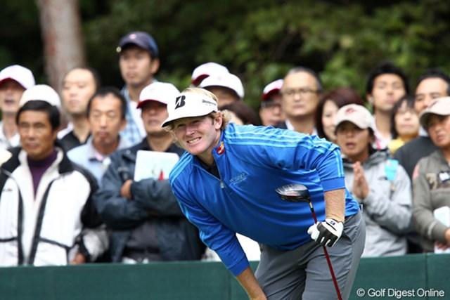2011年 ブリヂストンオープンゴルフトーナメント 初日  ブラント・スネデカー  リズムがいいと遼くんも話しました