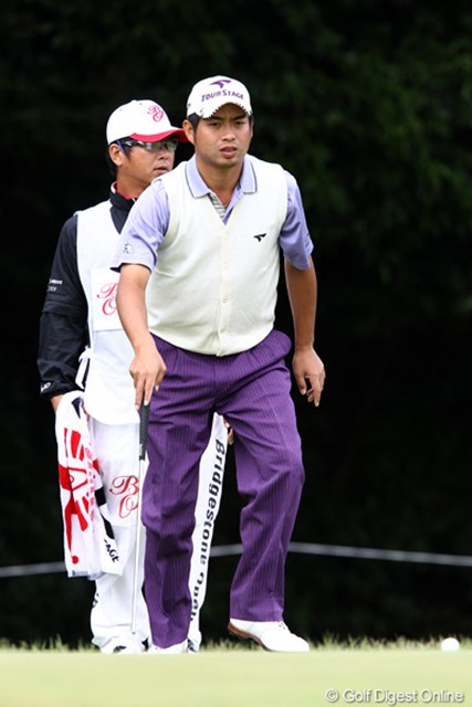 2011年 ブリヂストンオープンゴルフトーナメント 初日  池田勇太  ディフェンディングチャンプの若大将初日3オーバーと出遅れ