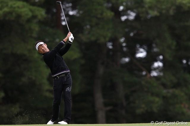 2011年 ブリヂストンオープンゴルフトーナメント 2日目 久保谷健一 今日も耐えるゴルフやってます
