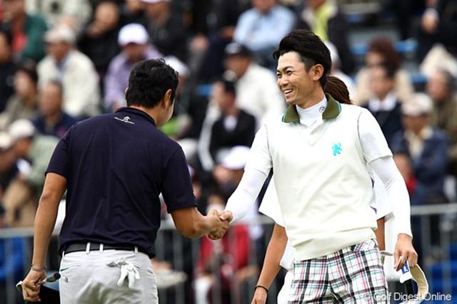 2011年 ブリヂストンオープンゴルフトーナメント 2日目 諸藤将次 7アンダーまでスコアを伸ばしトップと1打差の2位