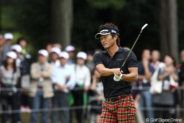 2011年 ブリヂストンオープンゴルフトーナメント  最終日  宮本勝昌 優勝争いから脱落してしまった宮本勝昌。残り試合は目標としている最終戦出場へ正念場となる