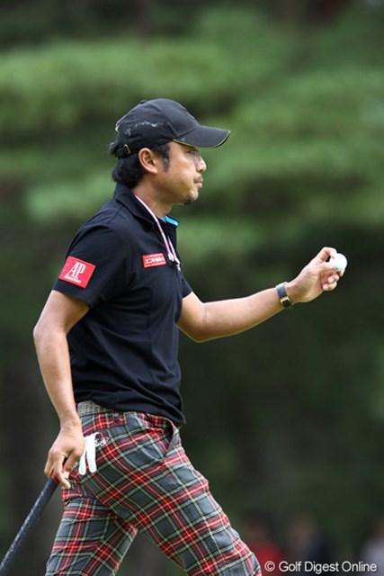 2011年 ブリヂストンオープンゴルフトーナメント  最終日  片山晋呉 終盤戦を前に役者がそろうか。片山晋呉が2位タイでフィニッシュ