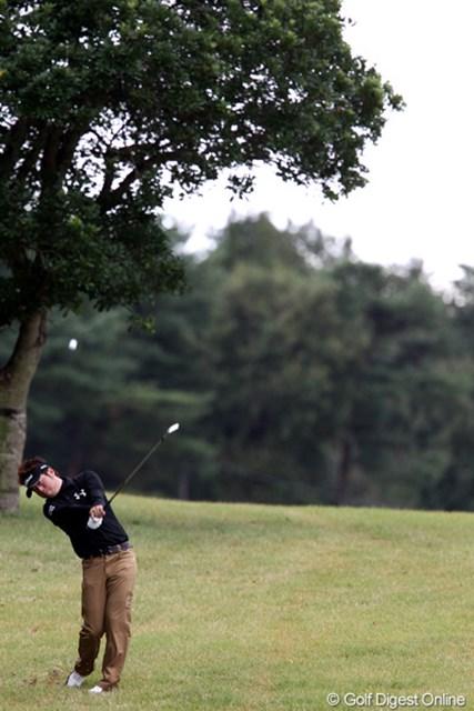 2011年 ブリヂストンオープンゴルフトーナメント  最終日  松村道央  スコア3つ伸ばして10アンダー「もうちょっとですね~」