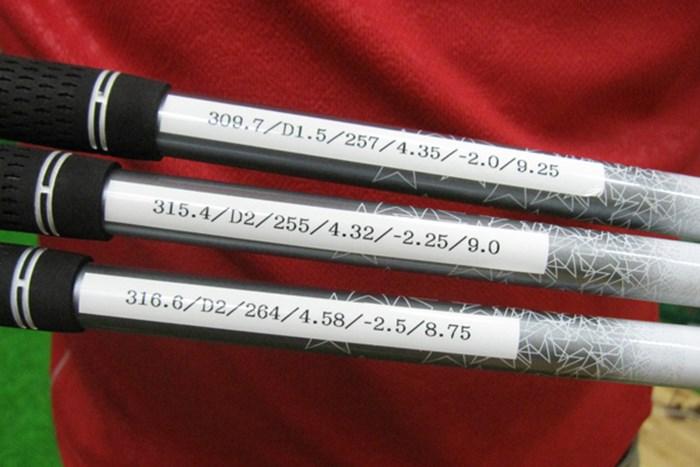 シャフト重量が一般のシャフトに比べ若干重いため、スペック選びには注意したい マーク試打 藤倉ゴム工業 ランバックス プラチナ NO.4